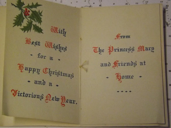 Christmas card from Princess Mary