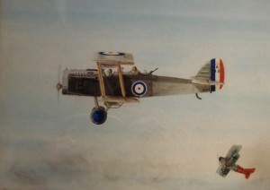 A typical World War One plane