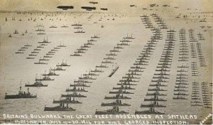 Britain's Bulwarks. The Great Fleet assembled at Spithead July 1914 for King George's inspection