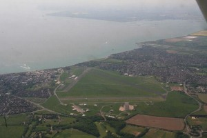 Aerial view of Lee on Solent airfield. Credits to original photographer.