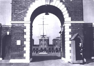 On guard duty at St Vincent's main gate in 1942. Credits to original photographer.