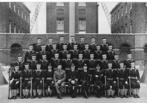 Unidentified class photo at St Vincent 1945. Credits to original photographer.