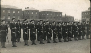 Rifle drill? St Vincent parade ground c.1938/39. Credits to original photographer.