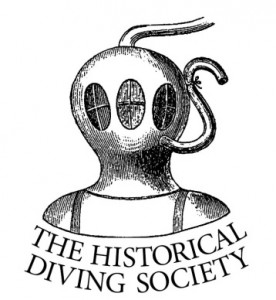 The historical diving society logo