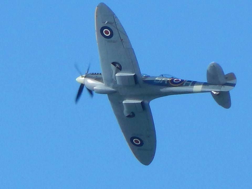 Ray Fox 2 - Spitfire flypast 4 March 2016
