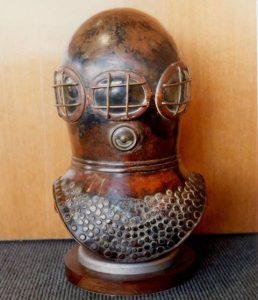first diving helmet