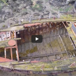 Link to video of Gosport drone footage. Forton creek shipwrecks.